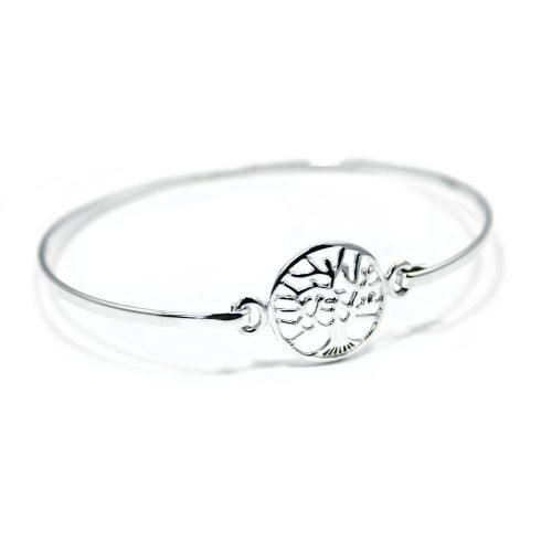 Tree of Life Yggdrasil Sterling Silver Ladies Bracelet (B002)